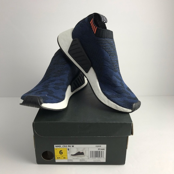watch af836 bb011 NEW ADIDAS NMD CS2 primeknit shoes women 6 blue